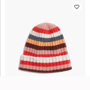 Madewell Wool Stripe beanie / hat os NWT colorful